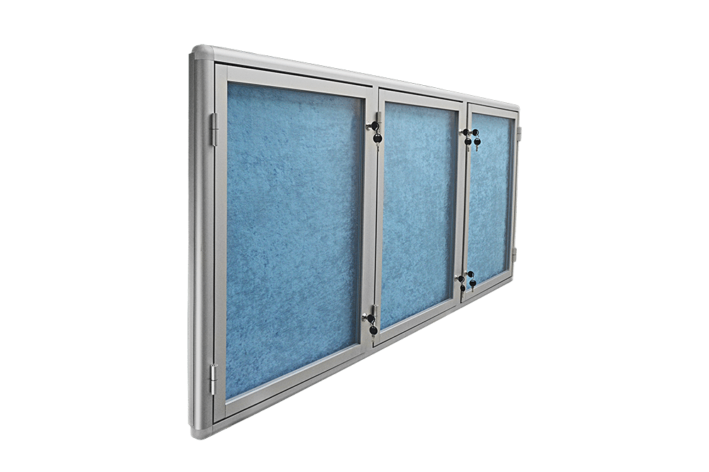 gablota ogloszeniowa aluminiowa trzyskrzydlowa
