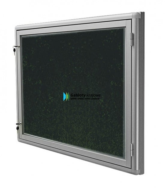 Aluminiowa gablota 01-JBP6-VZ wewnętrzna aluminiowa 1-skrzydłowa