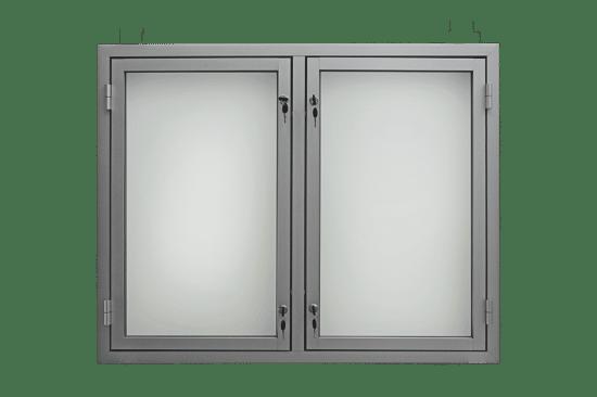 Gablota aluminiowa 10-DS3,2-ZX wisząca dwuskrzydłowa uchylna