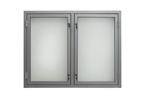 Gablota aluminiowa 10DS3,2G6 wewnętrzna wisząca