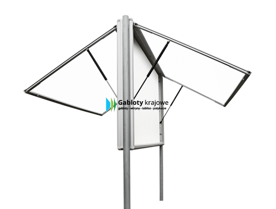 Aluminiowa gablota 2WDJGT13G3 wolnostojąca uchylna