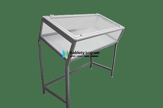 Aluminiowa gablota 32-M5-VQ wewnętrzna wolnostojąca uchylna