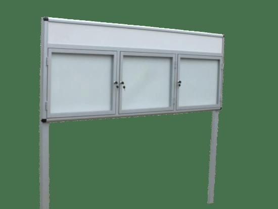 Aluminiowa gablota 4WTS3FG1 jednostronna trzyskrzydłowa