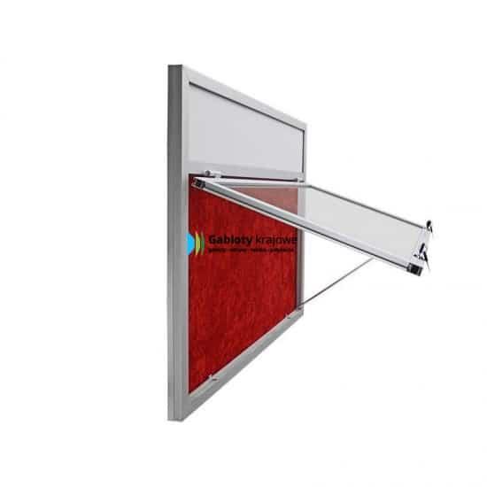 Aluminiowa gablota 58-JG3,2F-QQ zewnętrzna 1-skrzydłowa uchylana