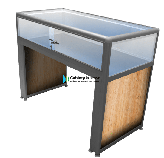 Gablota aluminiowa 5M22G2 wewnętrzna wolnostojąca jednostronna