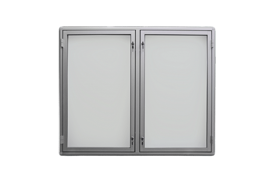 Aluminiowa gablota 6DS3G2 jednostronna 2-skrzydłowa na boki