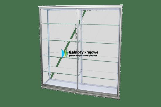 Aluminiowa gablota 7WS2BG3 wewnętrzna wolnostojąca jednostronna
