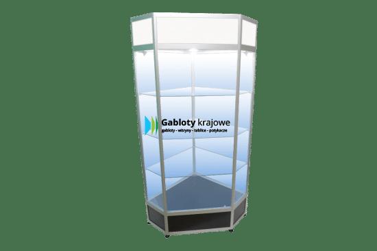 Aluminiowa gablota 85-WS21F-VC wewnętrzna wolnostojąca uchylna