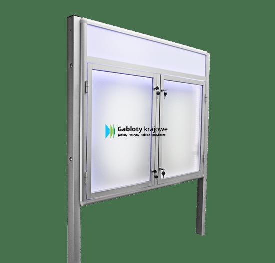 Aluminiowa gablota 8WDSP6FG8 wolnostojąca jednostronna