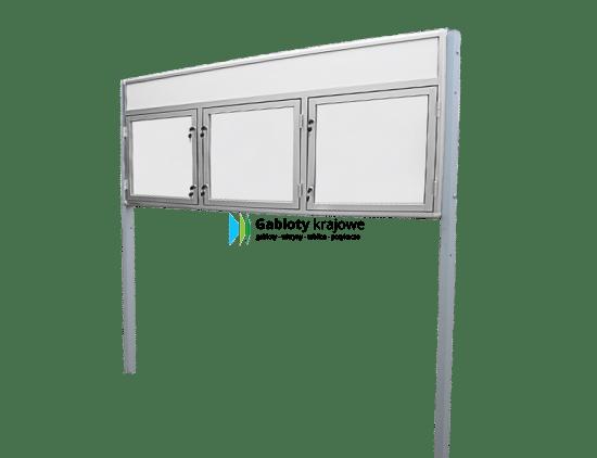 Aluminiowa gablota 95-WDTB13F-YY zewnętrzna trzyskrzydłowa uchylna