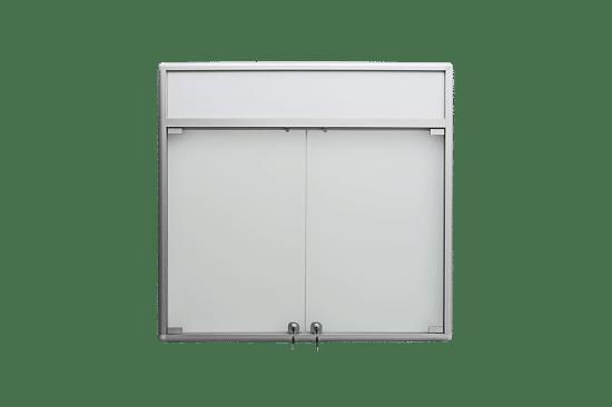 Gablota aluminiowa 9DS3HFG5 jednostronna dwuskrzydłowa
