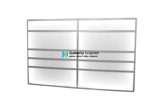 Aluminiowa gablota Tablica02-T8-ZQ wewnętrzna wisząca jednostronna