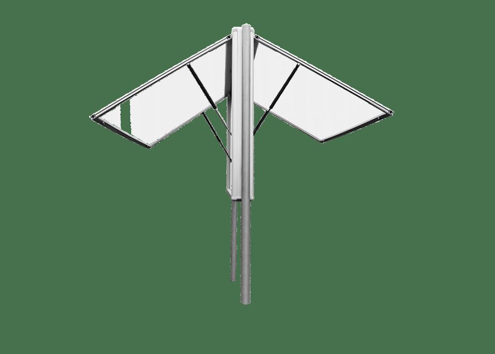 gablota aluminiowa dwustronna