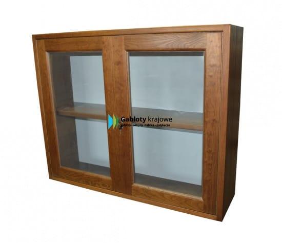 Drewniana Gablota 01-PDDB1-VV drewniana wisząca 2-skrzydłowa