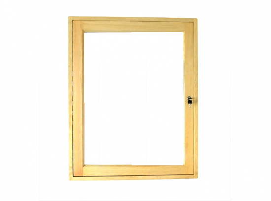 Gablota drewniana 05-JBD7-VZ drewniana jednoskrzydłowa na boki