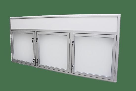Gablota aluminiowa 01-2TSP6F-YQ wewnętrzna wisząca trzyskrzydłowa