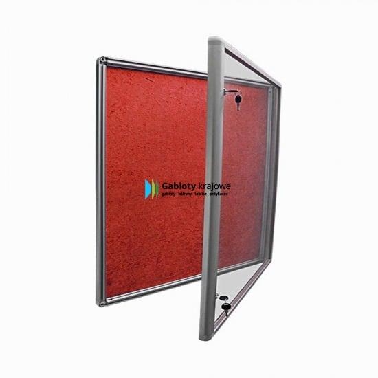 Gablota aluminiowa 01-JB6-XZ wewnętrzna uchylna na boki