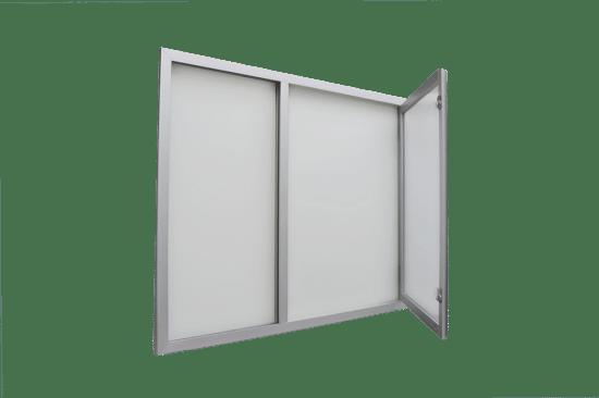 Gablota z aluminium 01-JC3,2-VX wisząca jednostronna na boki
