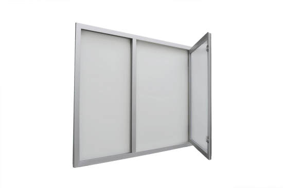 Gablota aluminiowa 01-JC3,2-VX wewnętrzna wisząca jednoskrzydłowa