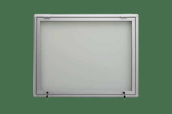 Aluminiowa gablota 01-JG3-YQ wisząca jednoskrzydłowa do góry