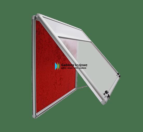 Gablota aluminiowa 01-JG6F-VQ wewnętrzna wisząca uchylna