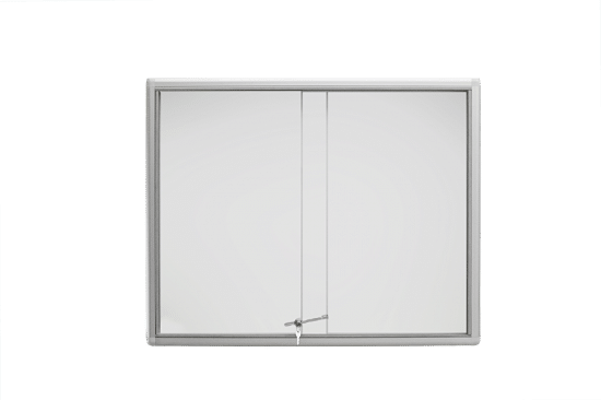 Aluminiowa gablota 01-P6-XX wewnętrzna aluminiowa przesuwna