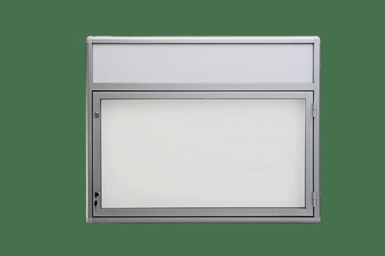 Aluminiowa gablota 04-JB3F-QV wisząca na boki