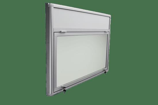 Aluminiowa gablota 05-JGPT6F-QV aluminiowa jednostronna jednoskrzydłowa