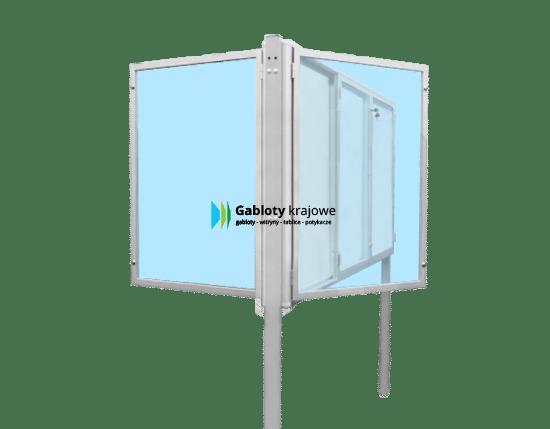 Aluminiowa gablota 06-WDTB13-VY dwustronna na boki