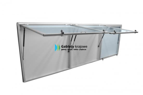 Aluminiowa gablota 10TSPT6G1 wewnętrzna jednostronna