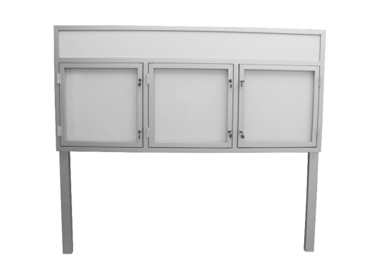 Gablota aluminiowa 12-WTS3,2F-XC aluminiowa jednostronna na boki