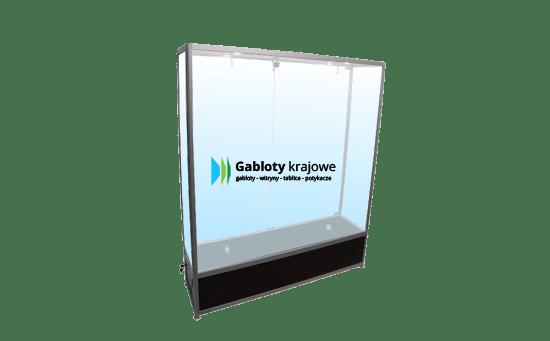 Aluminiowa gablota 32-2SDAB2-VV wolnostojąca jednostronna dwuskrzydłowa