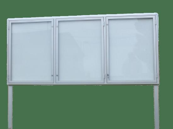 Gablota z aluminium 3WTS3G9 aluminiowa wolnostojąca 3-skrzydłowa