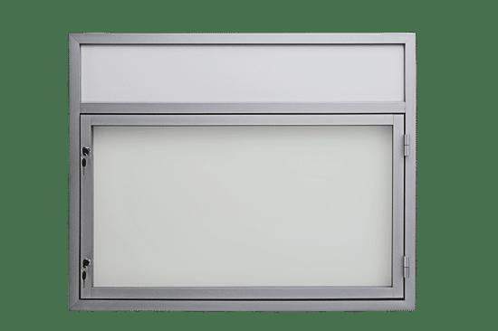 Gablota aluminiowa 61-JB3,2F-XX jednoskrzydłowa na boki