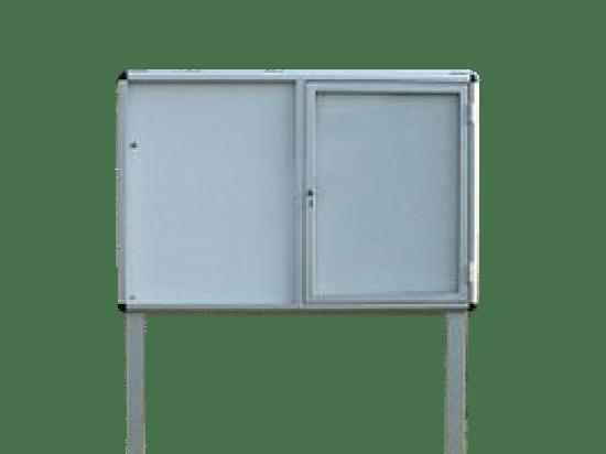 Aluminiowa gablota 71-WJC3-QQ aluminiowa na boki