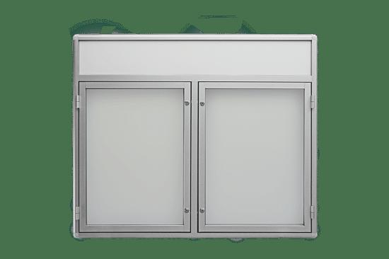 Aluminiowa gablota 7DS3FG3 wewnętrzna dwuskrzydłowa