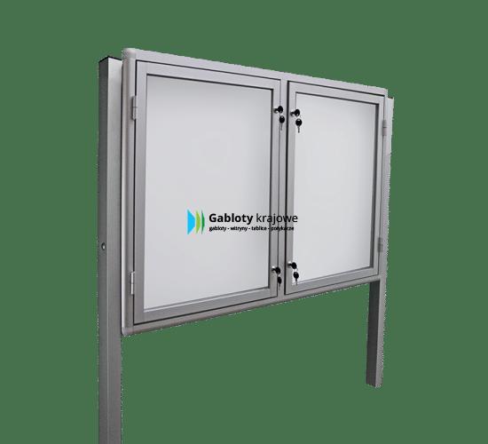 Aluminiowa gablota 7WDSP6G7 stojąca dwuskrzydłowa uchylna