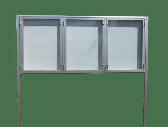 Aluminiowa gablota 7WTSP6G4 jednostronna trzyskrzydłowa do góry