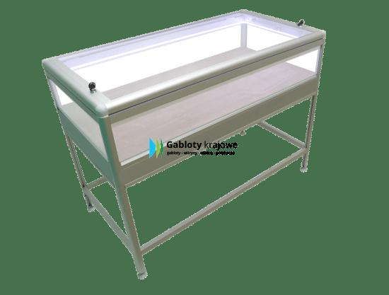 Aluminiowa gablota 9M12TG8 wolnostojąca uchylna