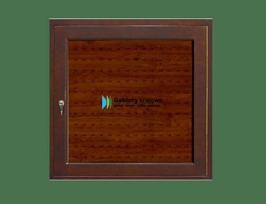Gablota drewniana 00-A4-QV drewniana 1-skrzydłowa na boki