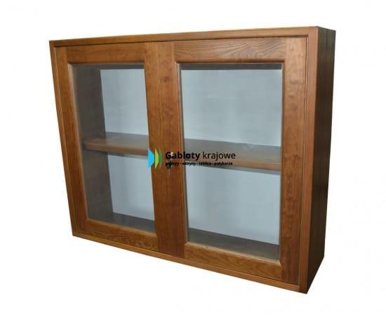 Gablota drewniana 8WW2G3 wewnętrzna drewniana dwuskrzydłowa