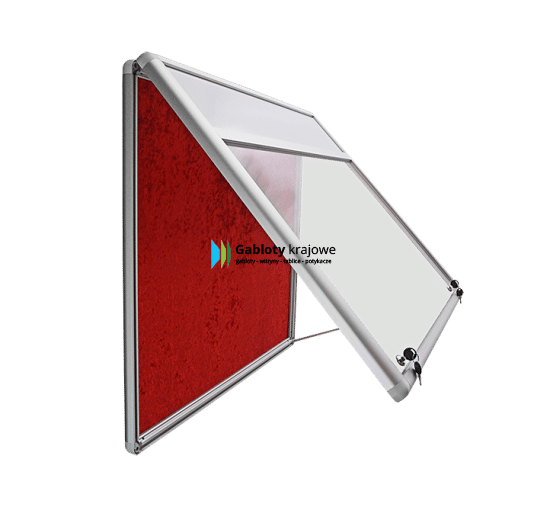 Gablota informacyjna 01-JG6F-VQ aluminiowa do góry