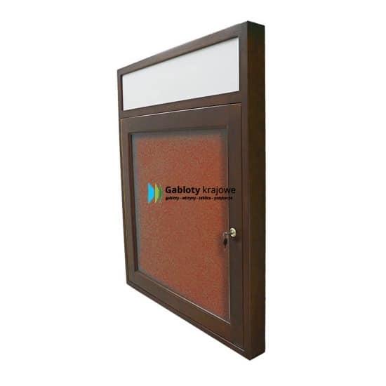 Gablota informacyjna 1JBD7FG4 wewnętrzna drewniana na boki