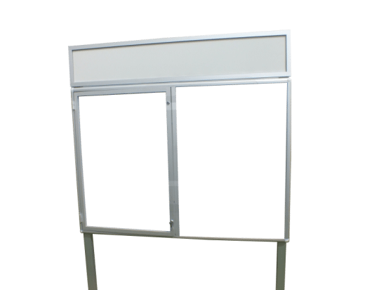 Gablota informacyjna 1WJC3FG8 zewnętrzna aluminiowa 1-skrzydłowa