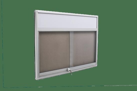 Gablota informacyjna 32-PH3F-YQ wewnętrzna aluminiowa przesuwna