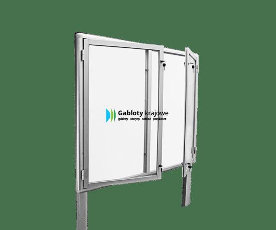 Gablota informacyjna 32-WDS3-YQ zewnętrzna aluminiowa na boki
