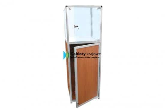 Gablota sklepowa - szklana 06-M18-ZZ drewniana 1-skrzydłowa