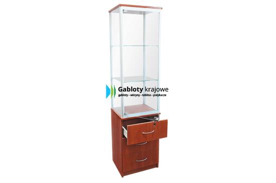 Gablota sklepowa - szklana 3WS8G9 aluminiowa woln