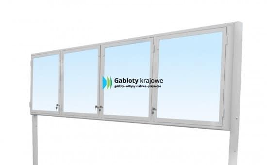 Gablota ogłoszeniowa 00-WJCZB6-VZ aluminiowa czteroskrzydłowa