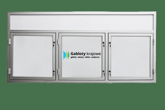 Gablota ogłoszeniowa 10TS3,2FG8 aluminiowa jednostronna uchylna